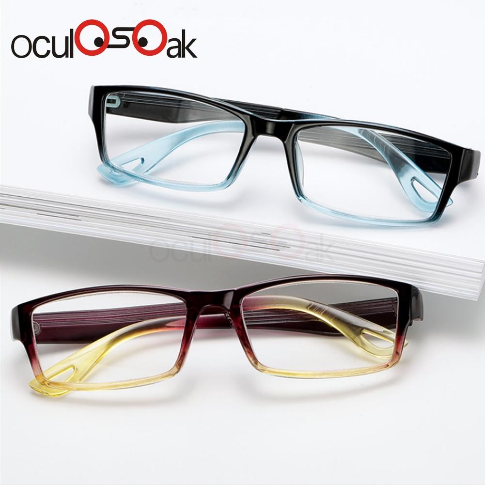Fashion Unbreakable Reading Glasses Women Men Resin Glasses Transparent Spectacles Vintage Round Reading glasses in Women 39 s Reading Glasses from Apparel Accessories