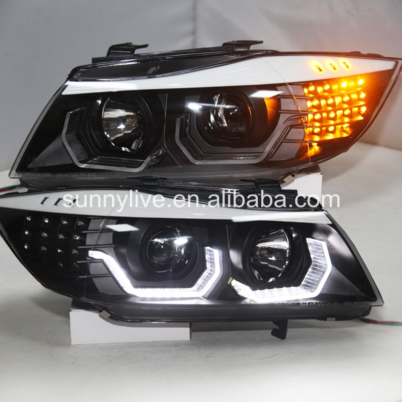 For BMW E90 330I 320I 318i Led Angel Eyes Headlight JYV2