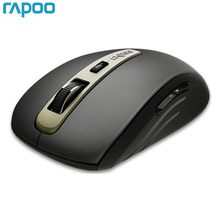 New Rapoo MT350 Mini Multi mode Wireless Mouse Switch between Bluetooth 3.0/4.0 and 2.4G for Three Devices Connection