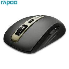 Novo rapoo mt350 mini interruptor de mouse sem fio multi modo entre bluetooth 3.0/4.0 e 2.4g para conexão de três dispositivos