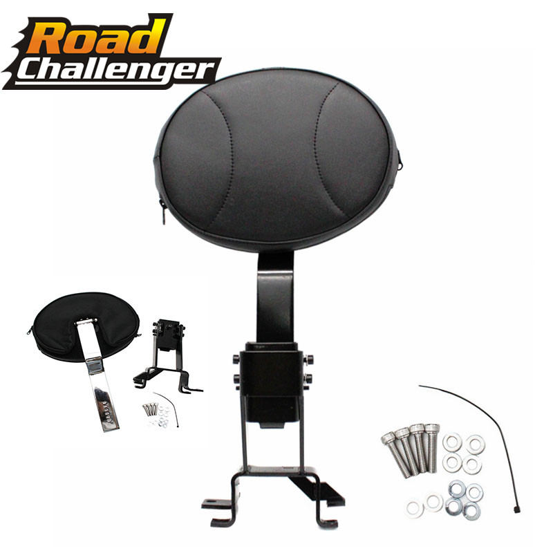For Indian Chieftain Chief Vintage 2014-2018 Motorcycle Plug-In Detachable Oval Rider Driver Black Backrest + Mounting