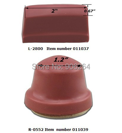 2 pcs Silicone Pad Printing Rubber Head 1.2&2 Pad Print Transfer Printing Head pad printing rubber pad square pad