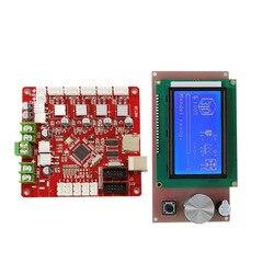 Anet V1.7 płyta główna + 12864 inteligentny wyświetlacz LCD upgrade do A6 E10 E12 E16 A8 Plus 3d drukarki rampy 1.4 prusa I3 DIY 3D drukarki