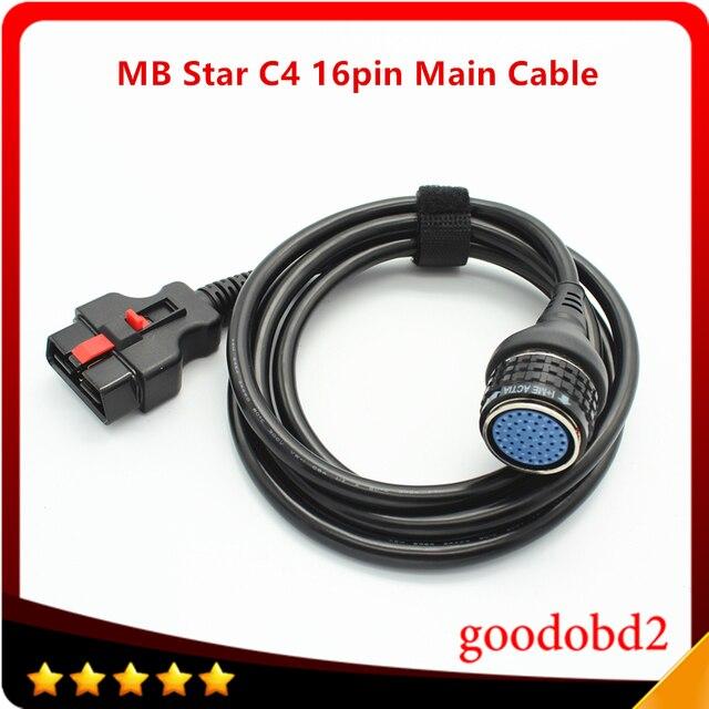 C4 16 контактный основной кабель MB Star C4 SD, соединение Compact 4 для главного тестирования кабеля мультиплексора, Автомобильные диагностические инструменты, адаптер, аксессуары