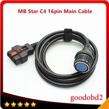 كابل أساسي C4 16pin MB Star C4 SD متصل مدمج 4 لكابل اختبار رئيسي معدد أدوات تشخيص السيارة ملحقات مهايئ