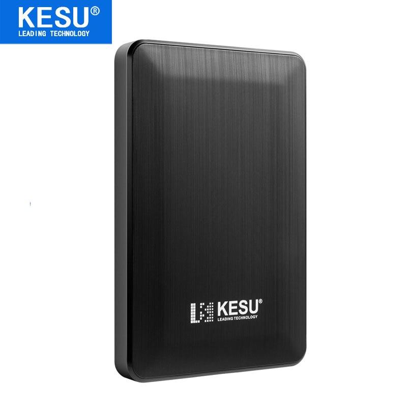 "Black Color KESU 2.5"" Portable External Hard Drive Disk 160GB 250GB 320GB 500GB  High Speed USB3.0 Storage HDD"