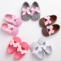 New PU Leather Sweet Newborn Baby Shoes Princess Girls Summer baby moccasins Soft Soled Anti-slip Flower infant shoes