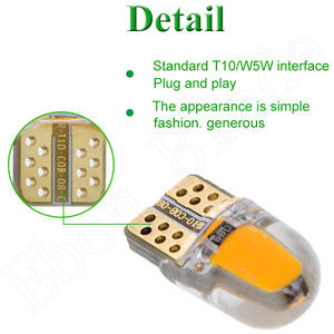Image 3 - Автомобильный светодиодный светильник T10 W5W, 2/4 шт., 12 в, 194, 168, 2825, лампа s, силиконовая, Cob, автомобильная интерьерная лампа, желтый, оранжевый, красный, белый