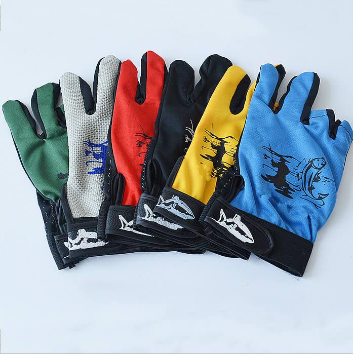 1 paar 3 Finger Cut Angeln Handschuhe Wasserdichte Anti Skid Anti-Slip Casting Unisex Angeln Handschuhe One Size Kostenloser farbe Nach Dem Zufall