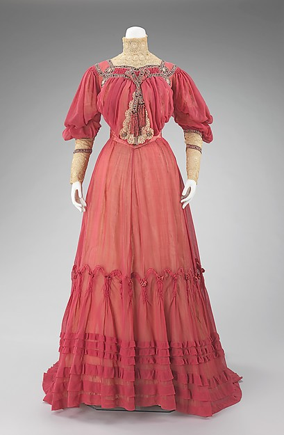 Early 20th Century Edwardian Period Afternoon Dress Garden Dress