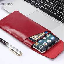 SZLHRSD for Cubot R11 super slim sleeve pouch cover, microfiber stitch case Phone bag for Alcatel A3 Plus 5011A(China)