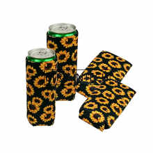 200pcs/lot New arrival 15 Style neoprene slim beer can cooler tall stubby holder