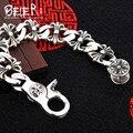 Unisex hand chain Beier 925 sterling silver bracelet link chain simple trendy bracelet  SCTYL0097