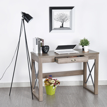 Aingoo Laptop Stand Office Study Writing Desk New Design For Working Standing Laptop Computer Desk L112*W51*H76.5cm for Writing