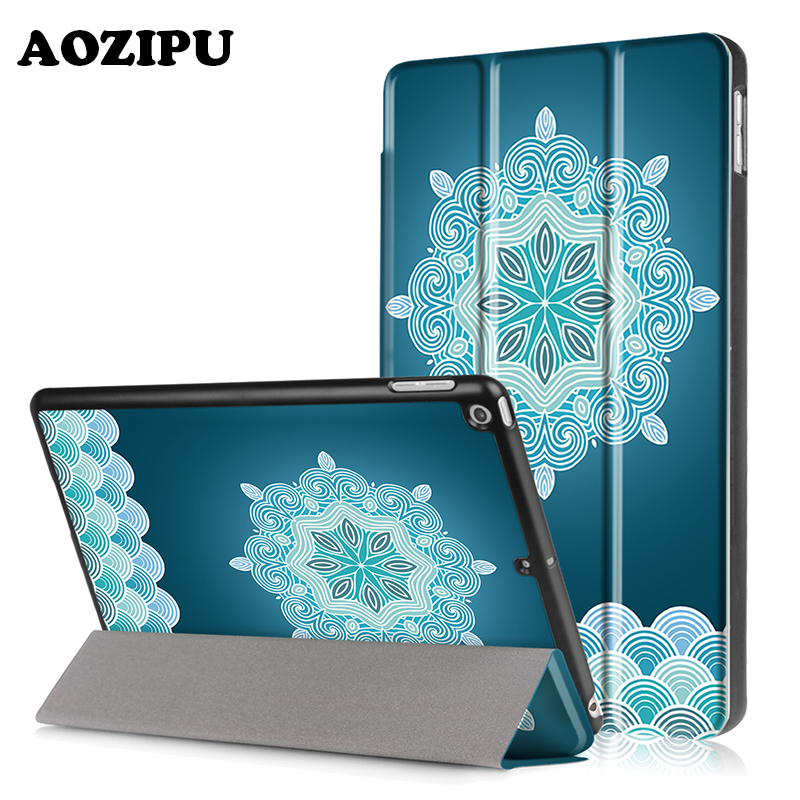 Case for iPad 2017 New 9.7 inch,AOZIPU Fashion Print PU Leather+Plastic Shell Protective Stand Cover for iPad 9.7 2017 Version case cover for goclever quantum 1010 lite 10 1 inch universal pu leather for new ipad 9 7 2017 cases center film pen kf492a