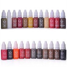 6 PCS Biotouch Permanent Tattoo Makeup Pigment Cosmetic Ink For Eyebrow Eyeliner Lip Makeup 15ml/Bottle