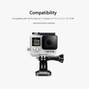 Image 5 - Vamson for Gopro Accessories 8pcs J Hook Mount Buckle Vertical Adapter For GoPro Hero 5 4 3+ for SJCAM for Yi Camera VP109A