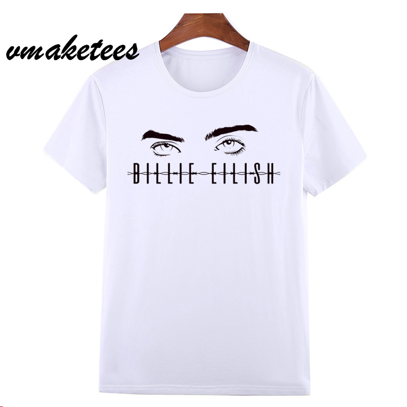 Billie Eilish   T     Shirt   Hip Hop Summer   T  -  shirt   O-Neck Short Sleeve Men/Women Tshirt High Quality Tee   Shirt   Male/female HCP4562