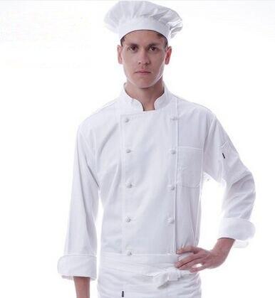 Uniformes de chef blanc automne chef vêtements hôtel cuisinier uniformes restaurant chef hauts
