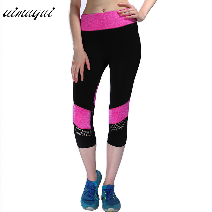 Women fitness Leggings American Apparel Ladies Sexy mesh ...
