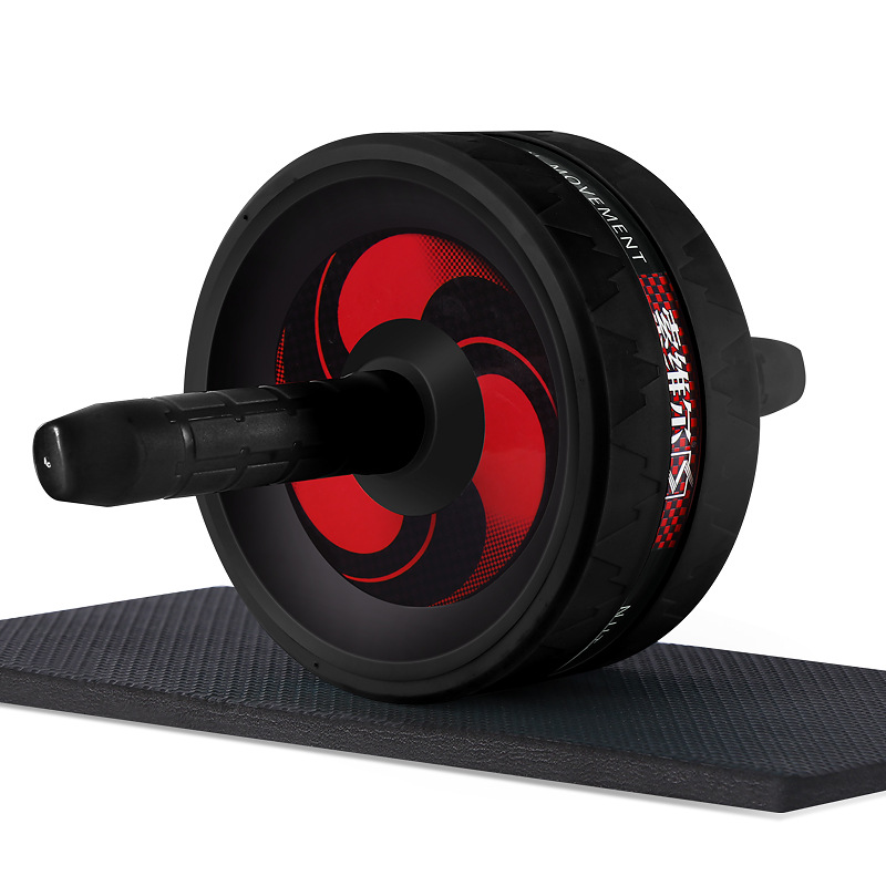 Back Abdominal Exercise Wheel Exerciser Fitness Workout Gym Roller Great For Arms Belly Core Trainer Free Knee Pad