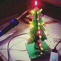 Трехмерная 3D Елки LED DIY Kit Красный/Зеленый/Синий 3 мм СВЕТОДИОДНОЙ Вспышкой Цепь Комплект Электронных Весело набор Рождественский Подарок
