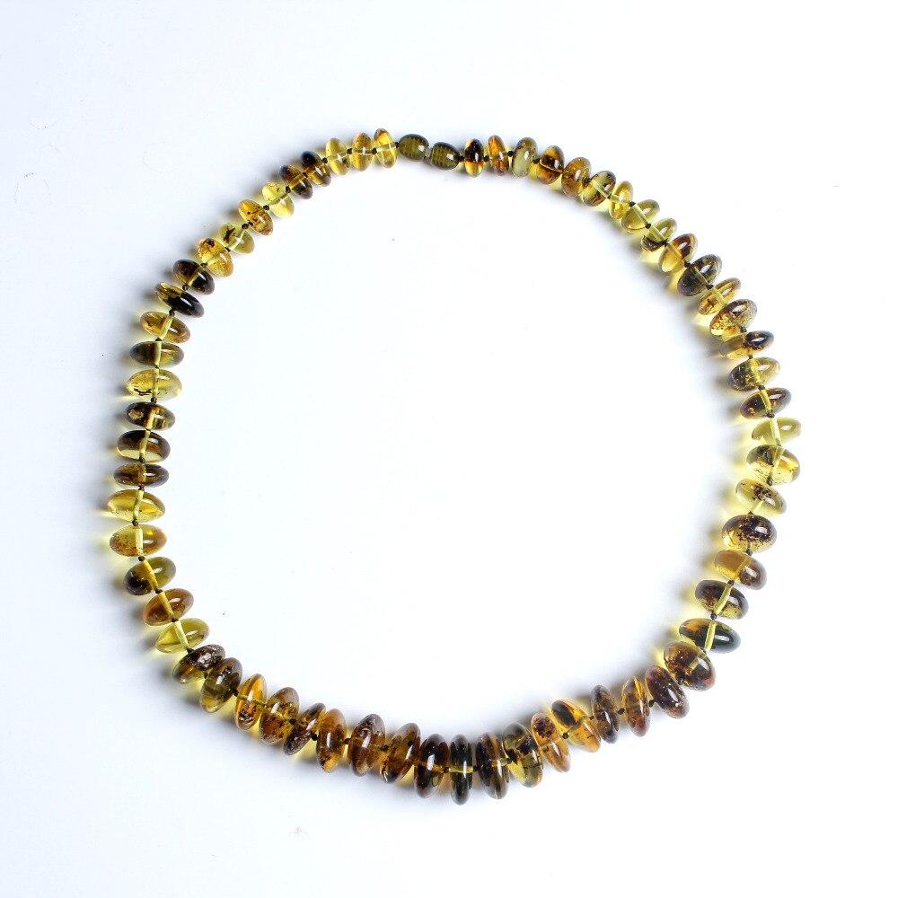JIUDUO naturel cire d'abeille colliers en argent Sterling original bricolage authentique baltique ambre main chaîne d'une carte d'un chèque-cadeau