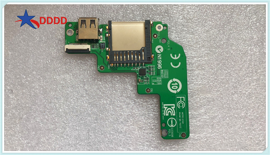Genuine NEW For MSI GP62 GE62 GE72 MS-16J51 USB CARD READER BOARD MS-16J12 WIHT CABLE Stock Test okGenuine NEW For MSI GP62 GE62 GE72 MS-16J51 USB CARD READER BOARD MS-16J12 WIHT CABLE Stock Test ok