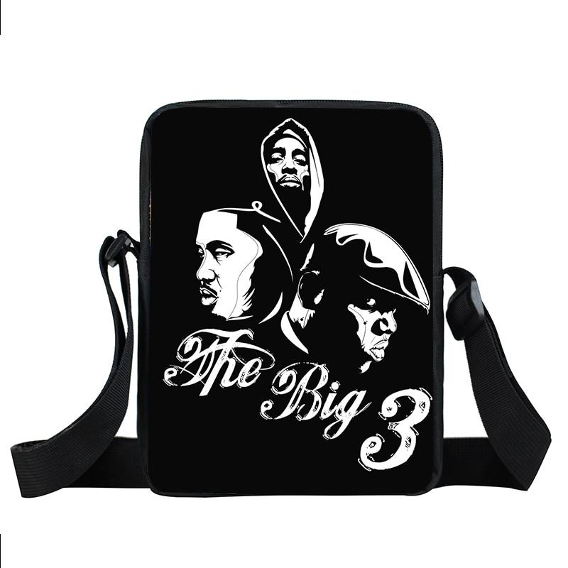 Legend Rapper Notorious Big 2PAC Eazy-E Tupac Messenger Bag Women Handbag Teenage Hip Hop Shoulder Bags Women Men Crossbody Bag