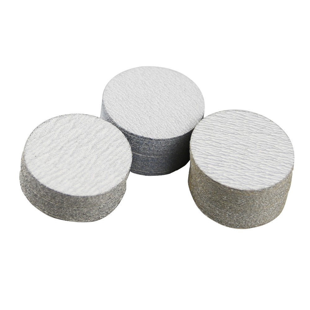 "Image 3 - 60 pieces 2"" Dry Abrasive Sanding Disc P80 P240 P320 + 1 piece 3mm Shaft Holder for Dremel Drill Power Tool-in Abrasive Tools from Tools"