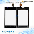 Black For Sony Ericsson Xperia E C1505 Touch Screen Digitizer C1504 C1605 C1604 LCD Glass With Flex Cable 1 Piece Free Shipping