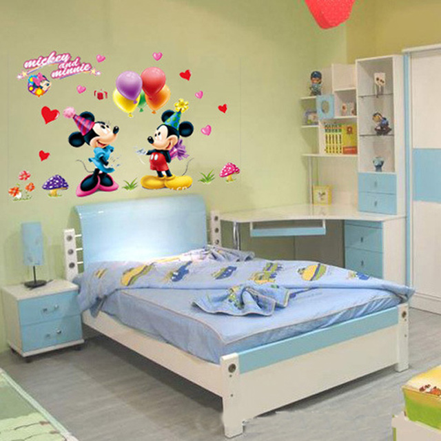 The New Wall Stickers Home Decor Mickey And Minnie Mouse With ...