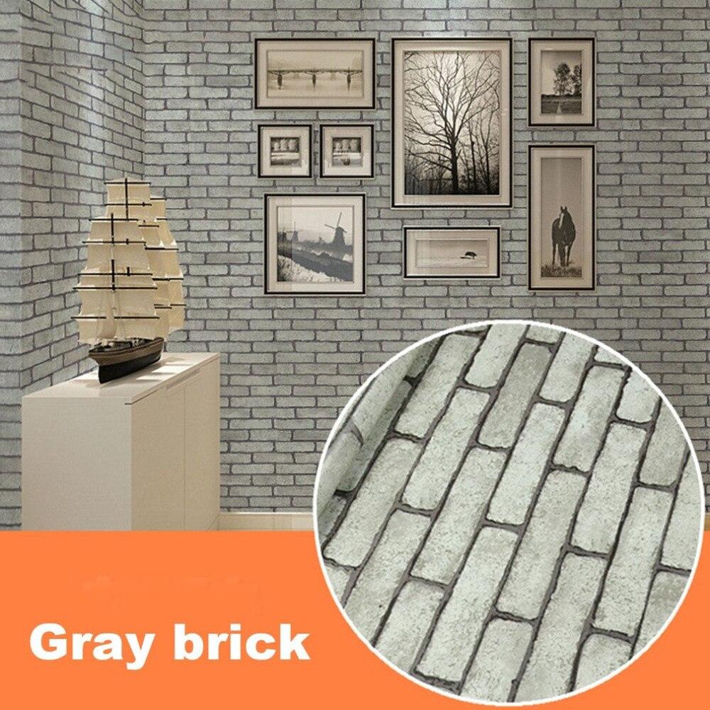 Современный водостойкий самоклеящийся кирпичный камень стиль 3D обои для гостиной фон Настенная Наклейка для гостиной Фреска домашний деко...