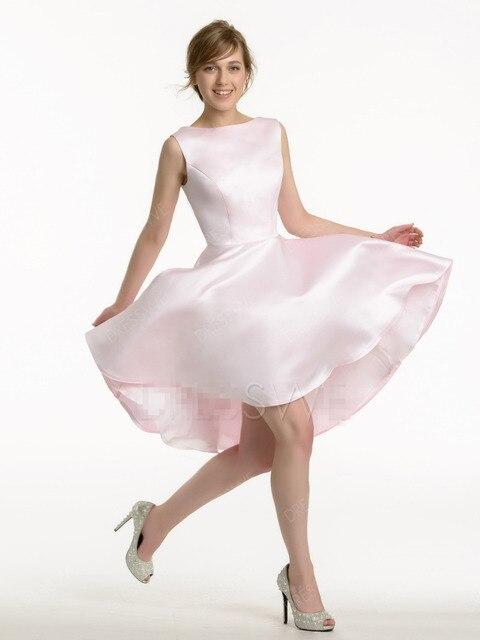 6a39e5b3ae4c High Low Wedding Bridesmaid Dresses Fashion Women Purple Light Pink Satin  Vestido Madrinha Bridesmaid Dresses 2016