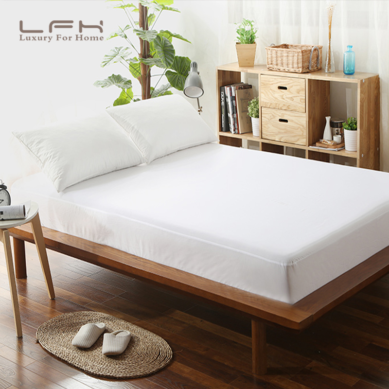 ONLY FOR RUSSIAN 160X200 Smooth Waterproof Mattress <font><b>Covers</b></font> Hypoallergenic <font><b>Bed</b></font> Bug and Dust Mite Proof Mattress Protector