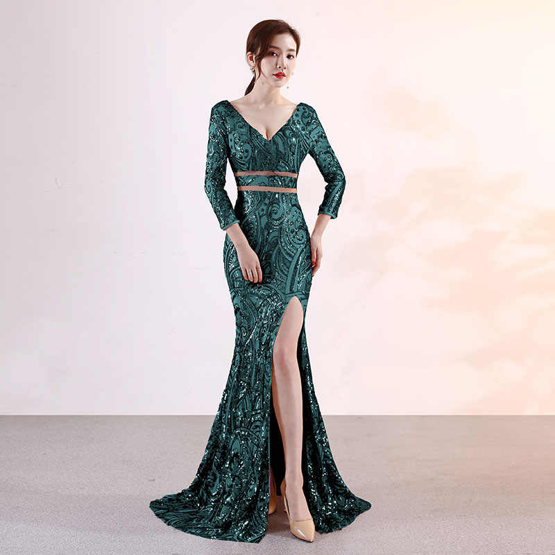 9044712163 Detail Feedback Questions about Elegant Green Velvet Crystal Beading ...