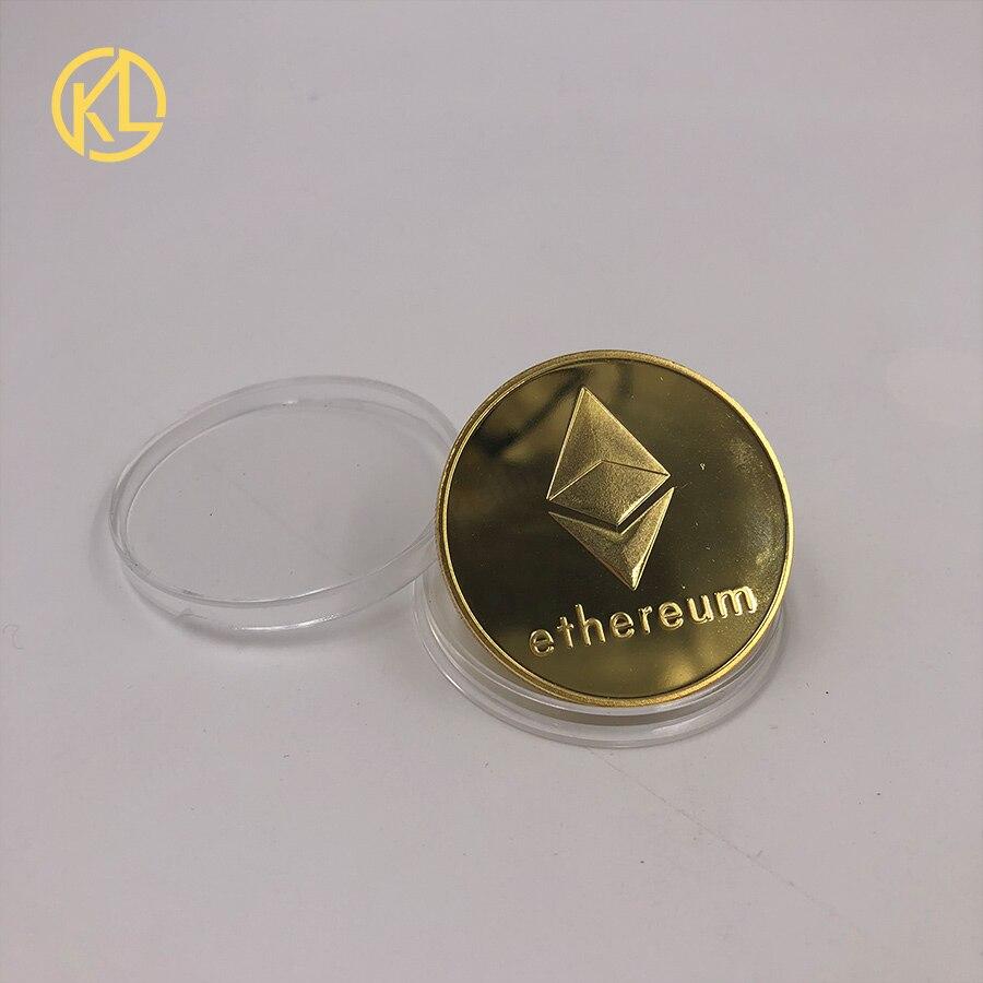 CO012 позолоченный эфириум классическая монета памятная монета художественная коллекция подарок физическая имитация из металла вечерние украшения для дома - Цвет: CO-011-1