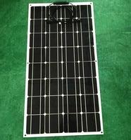Limpo  ambientalmente amigável 100W 12V bateria de painéis solares semi flexível curvada  mono célula solar panel solar panel battery panel solar battery panel -
