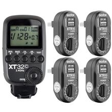 Godox XT32C 2.4G 1/8000s Flash Trigger for Canon+ 4pcs XTR-16 for AD180 AD360II godox ad s13 ad s16 portable light boom stick floor stand flash tripod kit for godox ad200 ad180 ad360 ad360ii etc speedlite