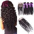 Malaysian Curly Hair With Closure,3 Bundles Malaysian Virgin Hair With Closure,Top Quality Curly Weave Human Hair With Closure