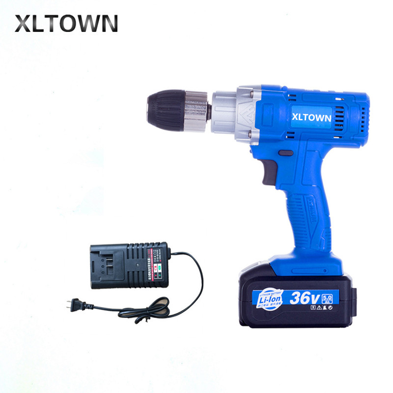 Xltown 21 v haute puissance sans fil multi-fonction électrique tournevis bois perceuse électrique avec 5000 mA batterie au lithium