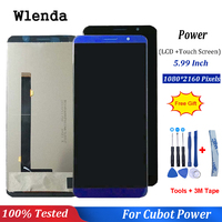 Black/Blue For Cubot Power LCD Display and Touch Screen 5.99 inch Mobile Phone Accessories For Cubot Power + Free Tools