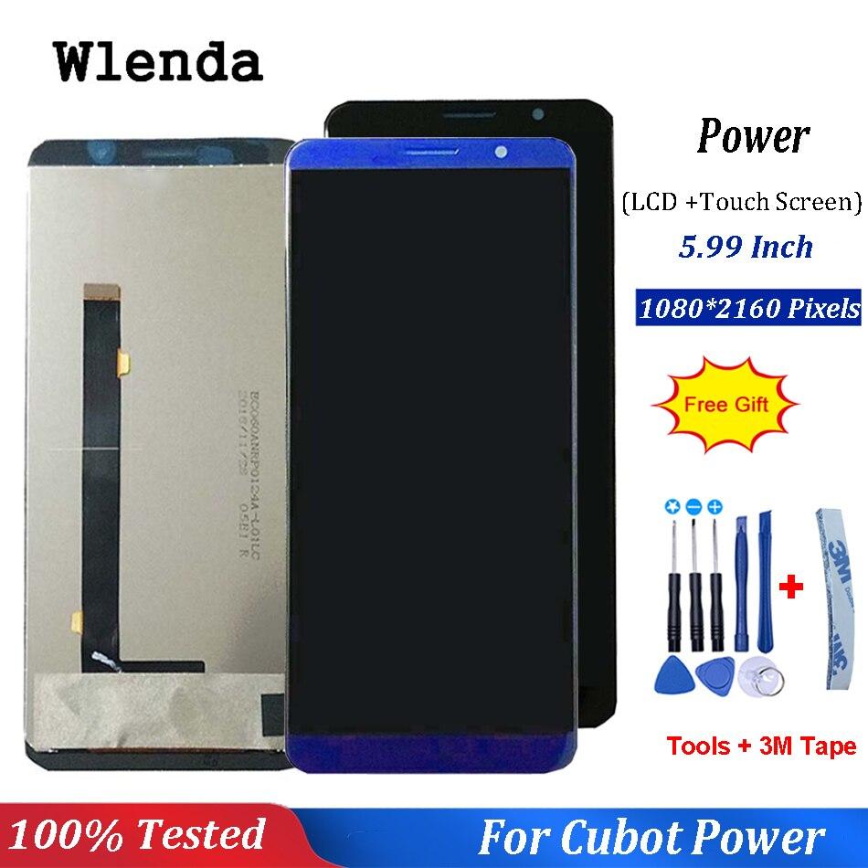 Preto/Azul Para Poder Cubot Display LCD e Tela Sensível Ao Toque de 5.99 polegada Do Telefone Móvel Acessórios Para Poder Cubot + ferramentas gratuitas
