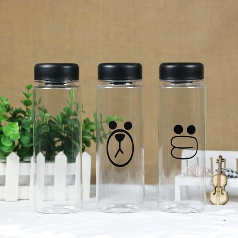 500ML  Fashion fruit water bottle  sports water bottle Hot sale plastic lemon juice readily bottle Pakistan