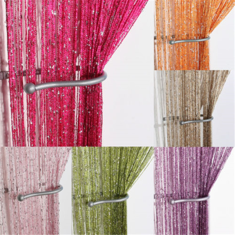 Floral Tulle Window Curtain Sheer Curtain Panel Voile Door Divider Drape Gifts.