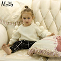 Kids Girls White Cardigans Tiny Cotton Baby Chirstmas Sweater For Boys Girls Pullover Children Warm Knitwear Clothes Ball Top