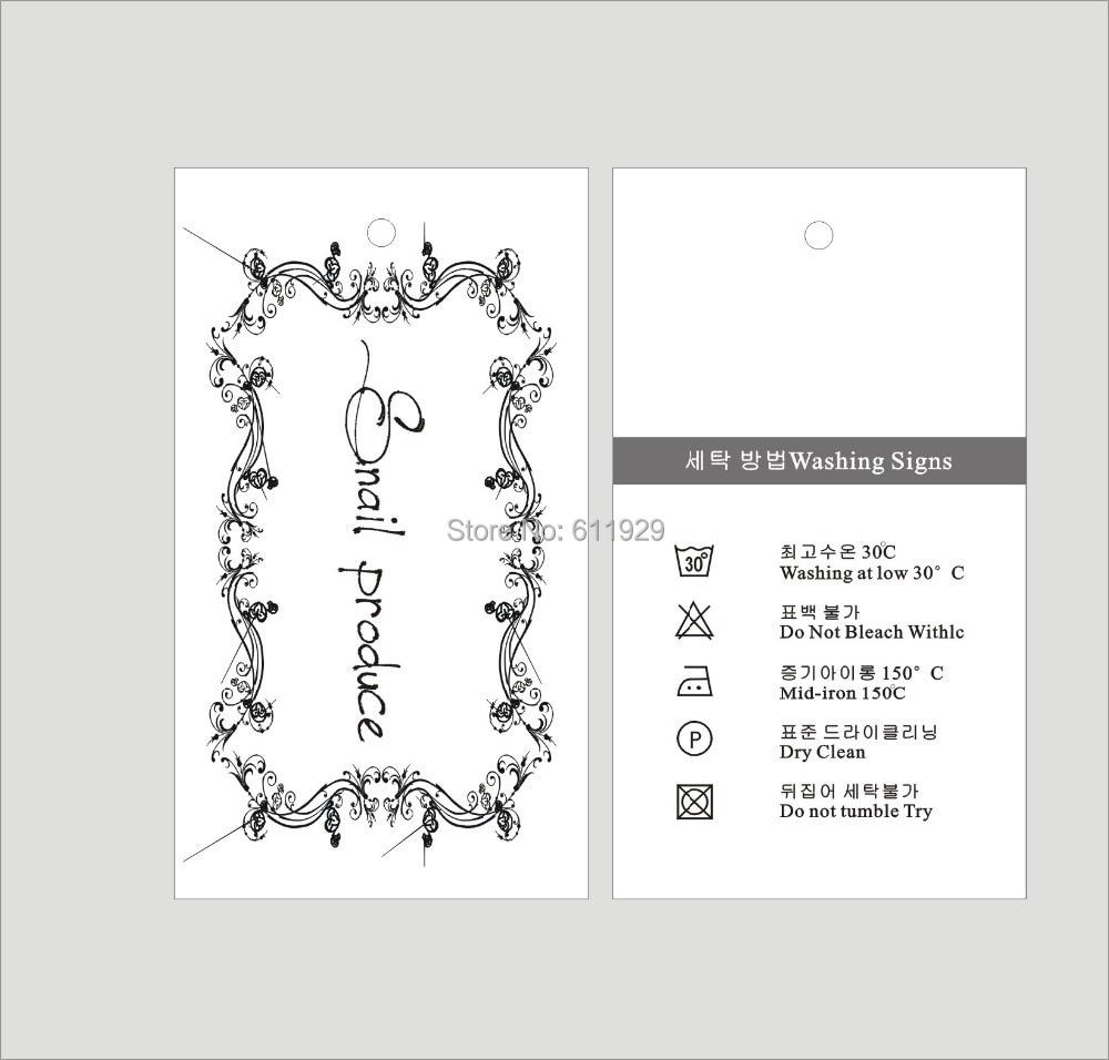 ̿̿̿(•̪ )Envío Gratis ropa personalizada etiquetas colgantes ...