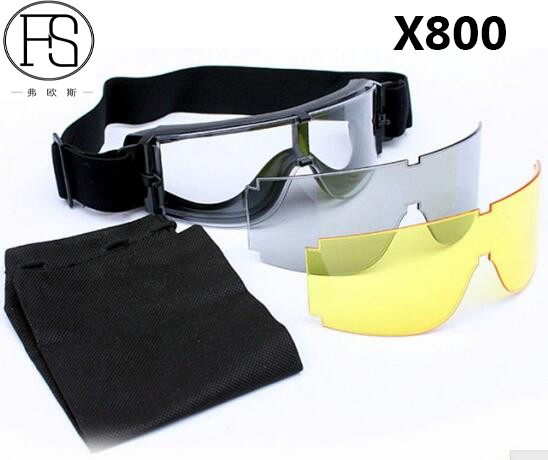 Prix pour Vente chaude! Lunettes de sécurité USMC Airsoft X800 lunettes de Soleil Moto Lunettes Cyclo Protection Des Yeux Utiliser