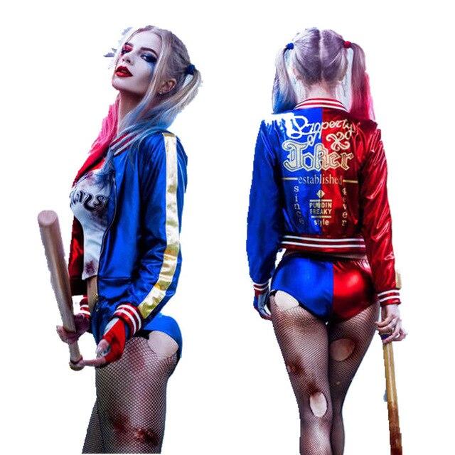 2019 Full Set Joker Suicide Squad Cosplay Costumes Harley Quinn