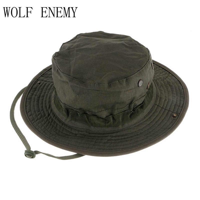 คุณภาพสูงยุทธวิธี Airsoft Sniper Camouflage Boonie หมวกกลางแจ้งหมวกทหารหมวก